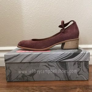 Jeffery Campbell x Free People purple suede shoes